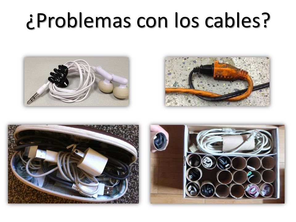 ¿Problemas con los cables