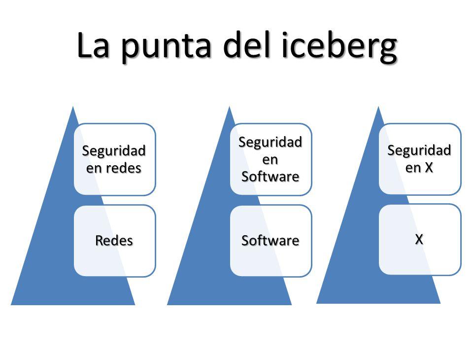 La punta del iceberg Seguridad en redes Redes Seguridad en Software