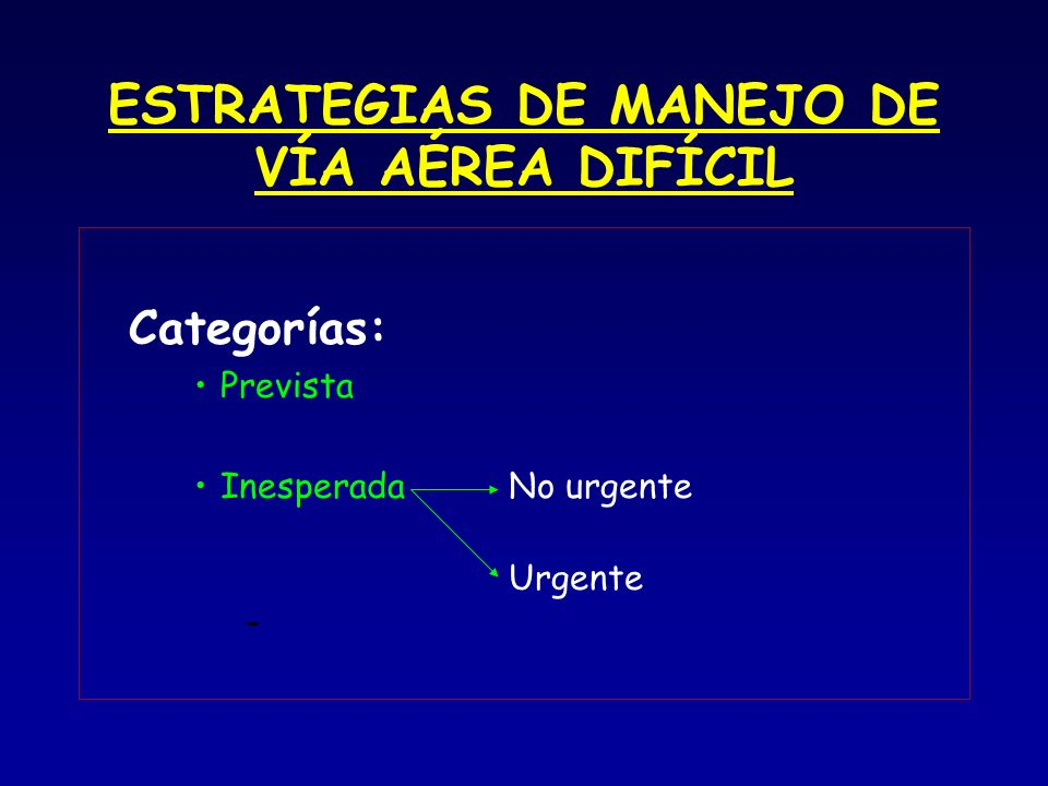 ESTRATEGIAS DE MANEJO DE VÍA AÉREA DIFÍCIL
