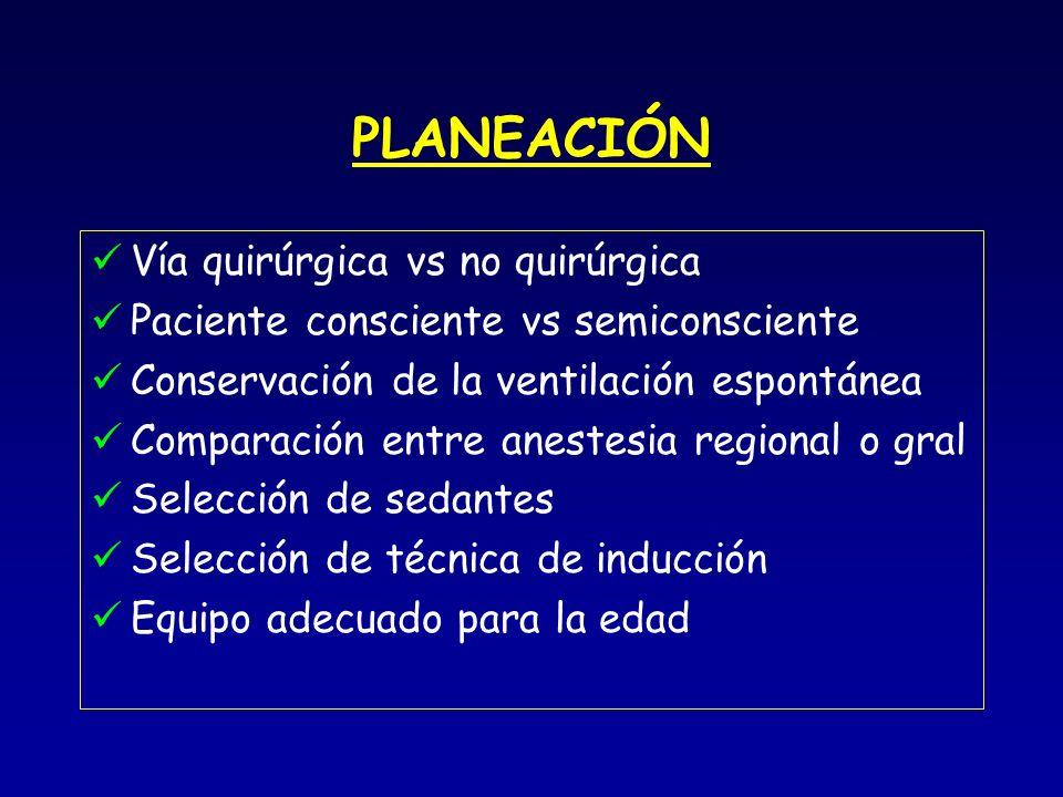 PLANEACIÓN Vía quirúrgica vs no quirúrgica