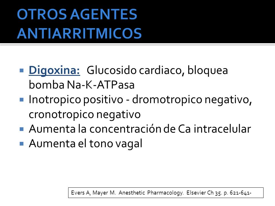 OTROS AGENTES ANTIARRITMICOS