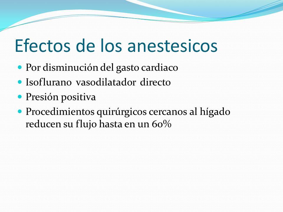 Efectos de los anestesicos