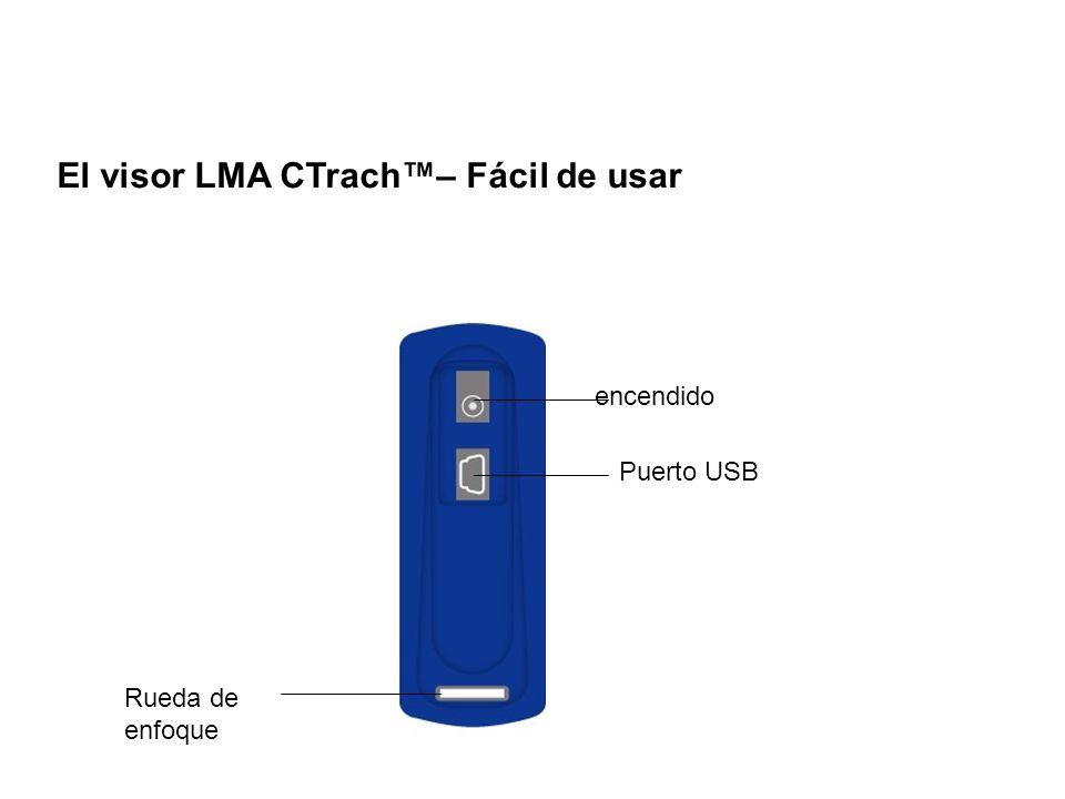El visor LMA CTrach™– Fácil de usar