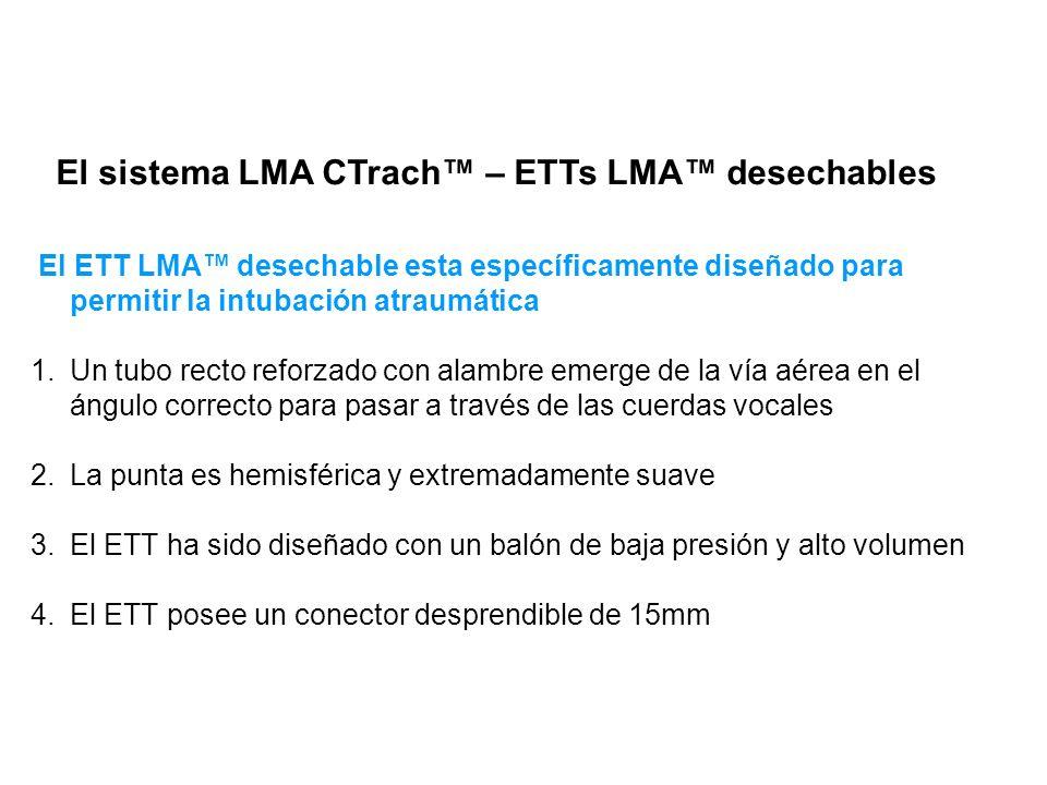 El sistema LMA CTrach™ – ETTs LMA™ desechables