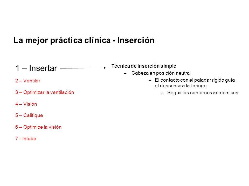 La mejor práctica clínica - Inserción