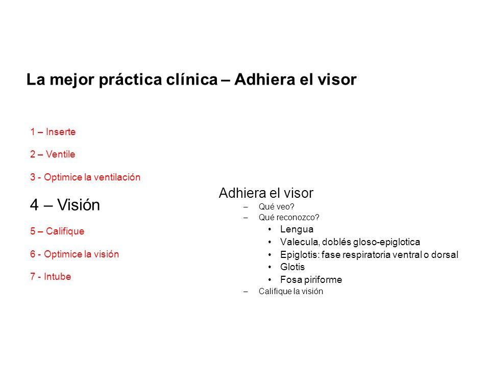 La mejor práctica clínica – Adhiera el visor