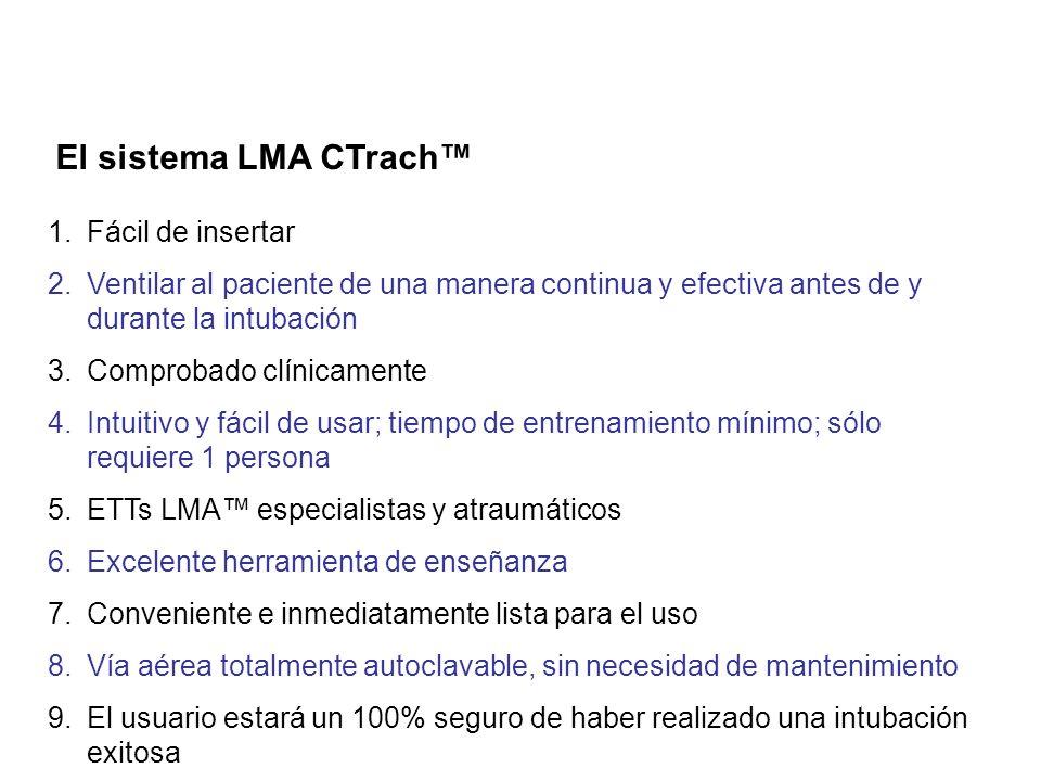 El sistema LMA CTrach™ Fácil de insertar