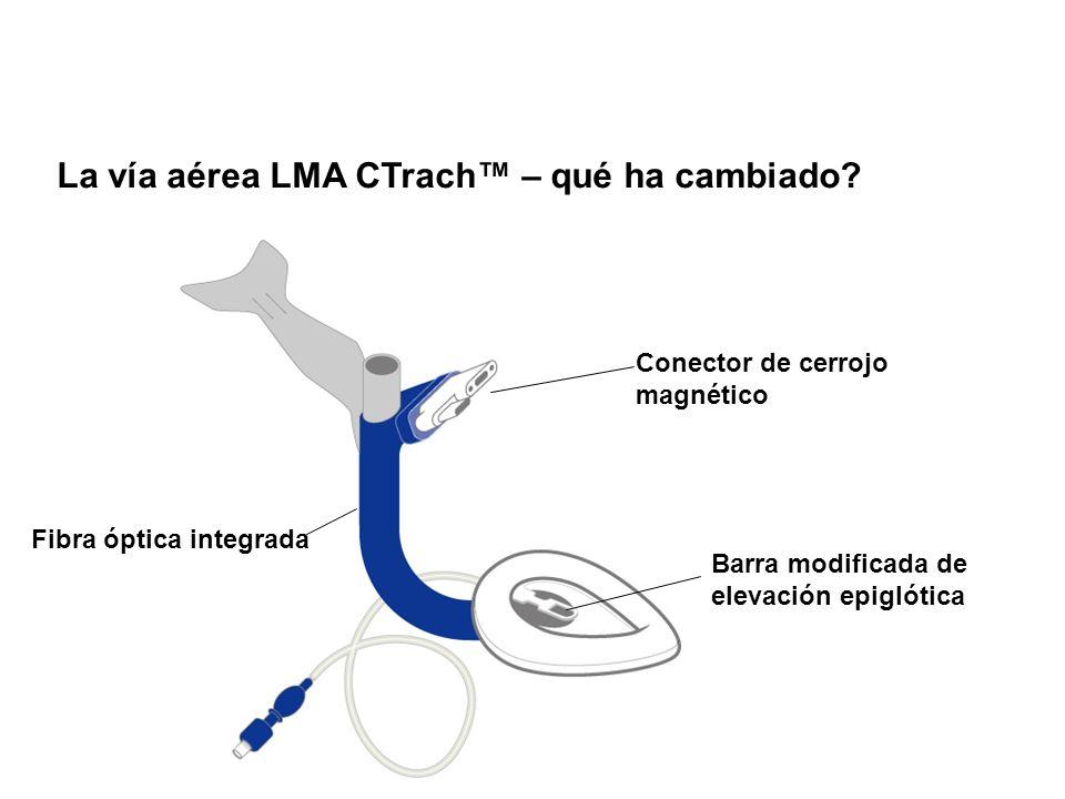 La vía aérea LMA CTrach™ – qué ha cambiado
