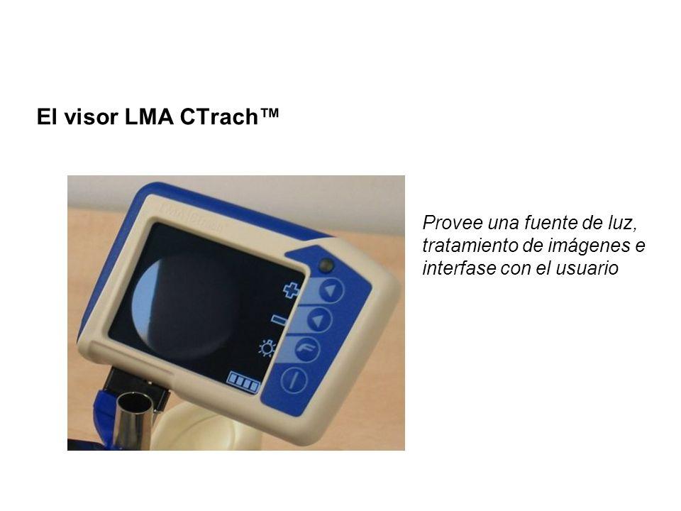 El visor LMA CTrach™ Provee una fuente de luz, tratamiento de imágenes e interfase con el usuario