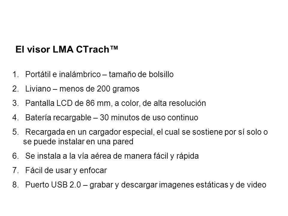 El visor LMA CTrach™ Portátil e inalámbrico – tamaño de bolsillo