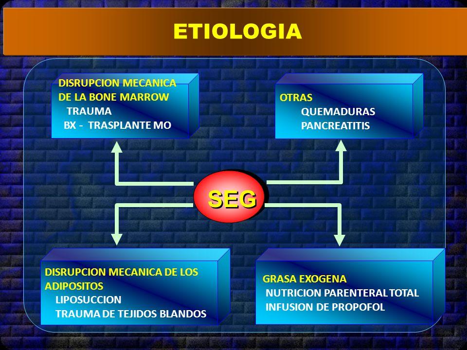 SEG ETIOLOGIA OTRAS QUEMADURAS PANCREATITIS DISRUPCION MECANICA