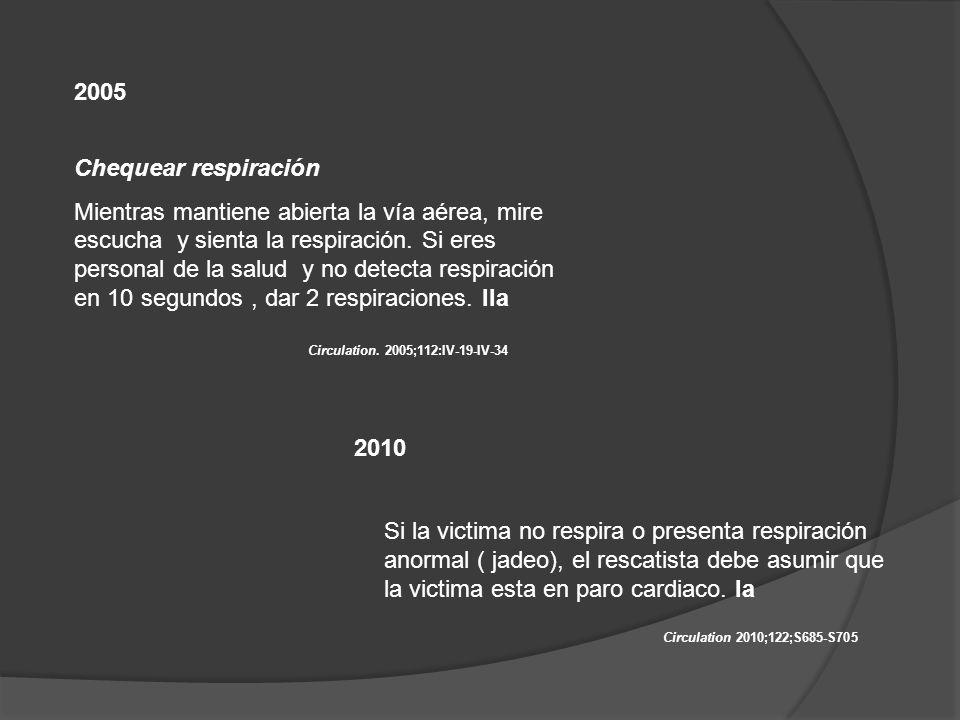 2005 Chequear respiración.