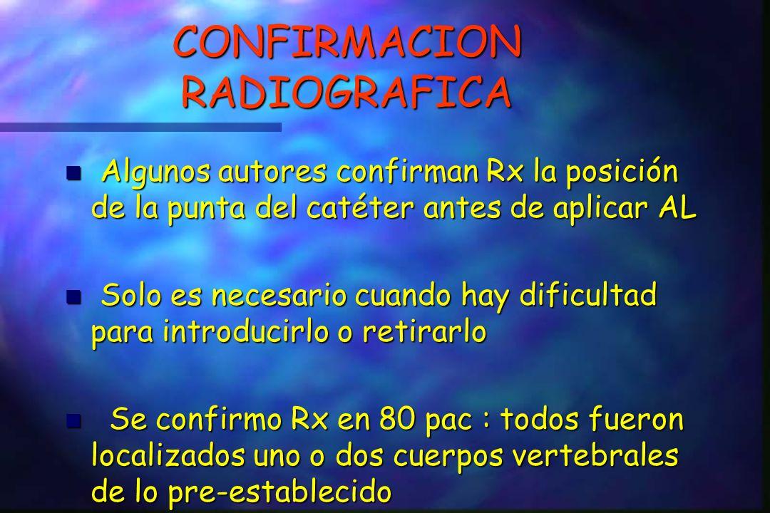 CONFIRMACION RADIOGRAFICA