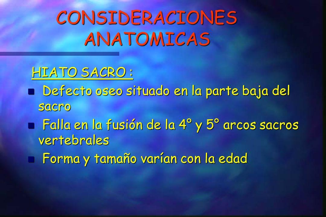 CONSIDERACIONES ANATOMICAS