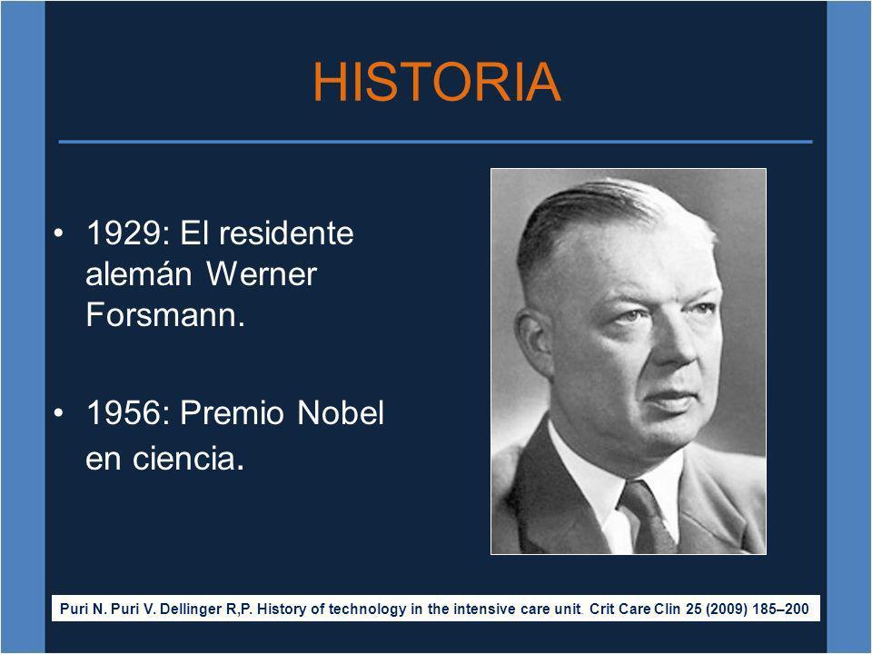 HISTORIA 1929: El residente alemán Werner Forsmann.