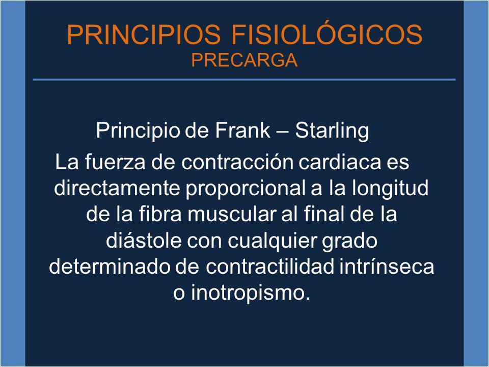 PRINCIPIOS FISIOLÓGICOS PRECARGA