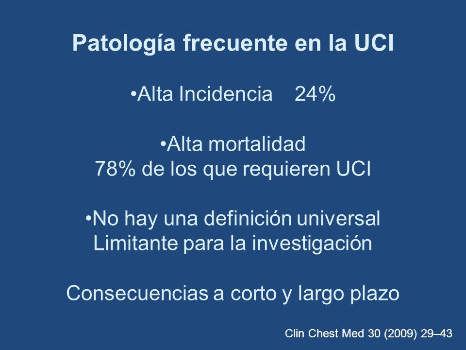 Patología frecuente en la UCI