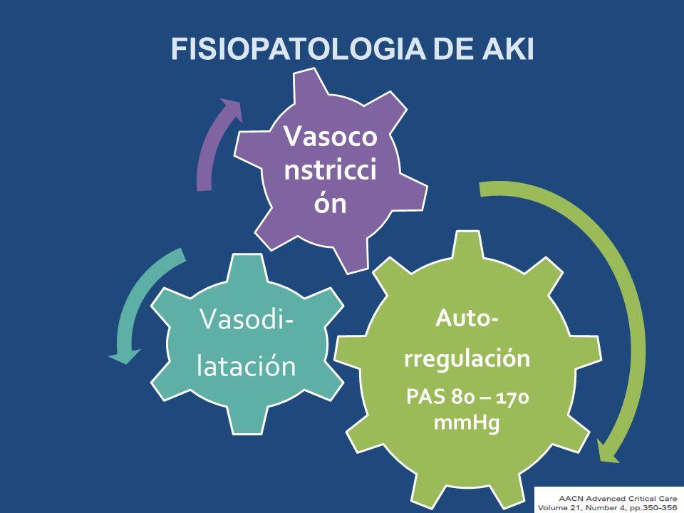Vasodi- Vasoconstricción FISIOPATOLOGIA DE AKI latación Auto-