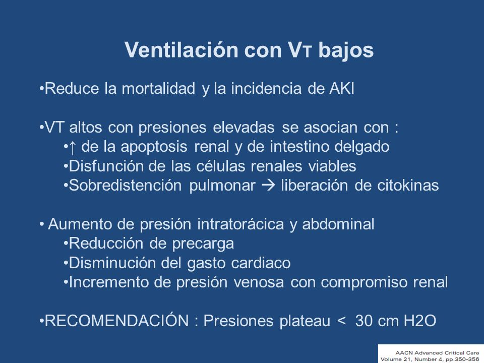 Ventilación con VT bajos