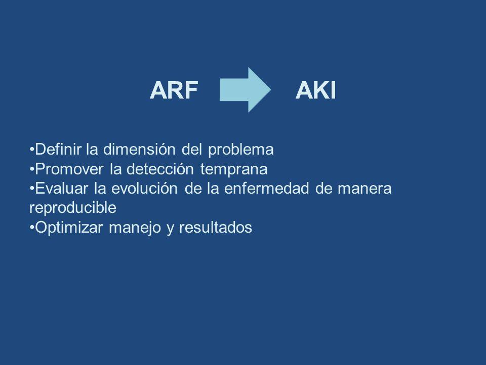 ARF AKI Definir la dimensión del problema