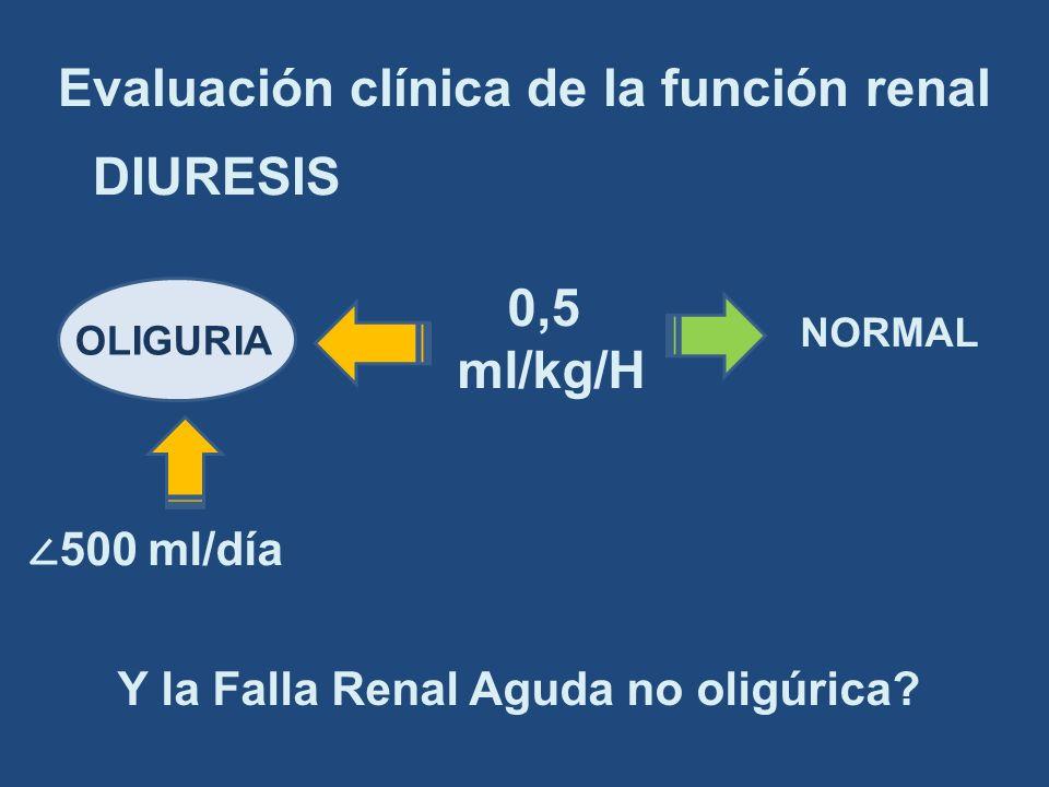 Evaluación clínica de la función renal