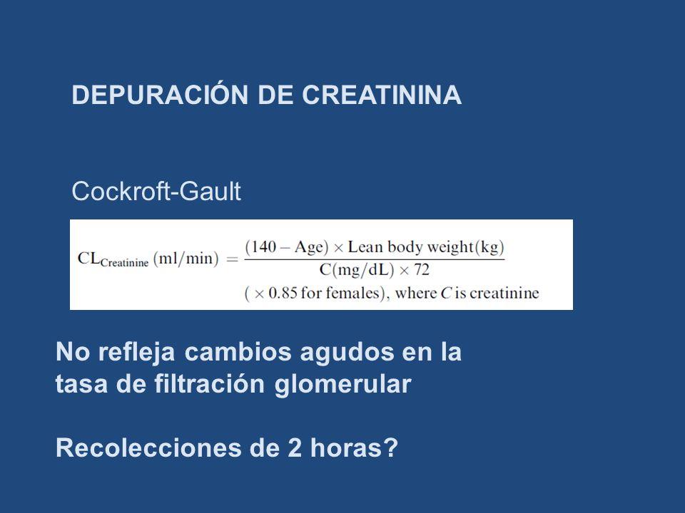DEPURACIÓN DE CREATININA