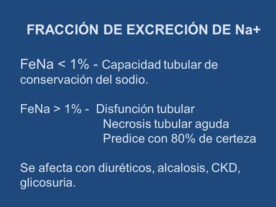 FRACCIÓN DE EXCRECIÓN DE Na+