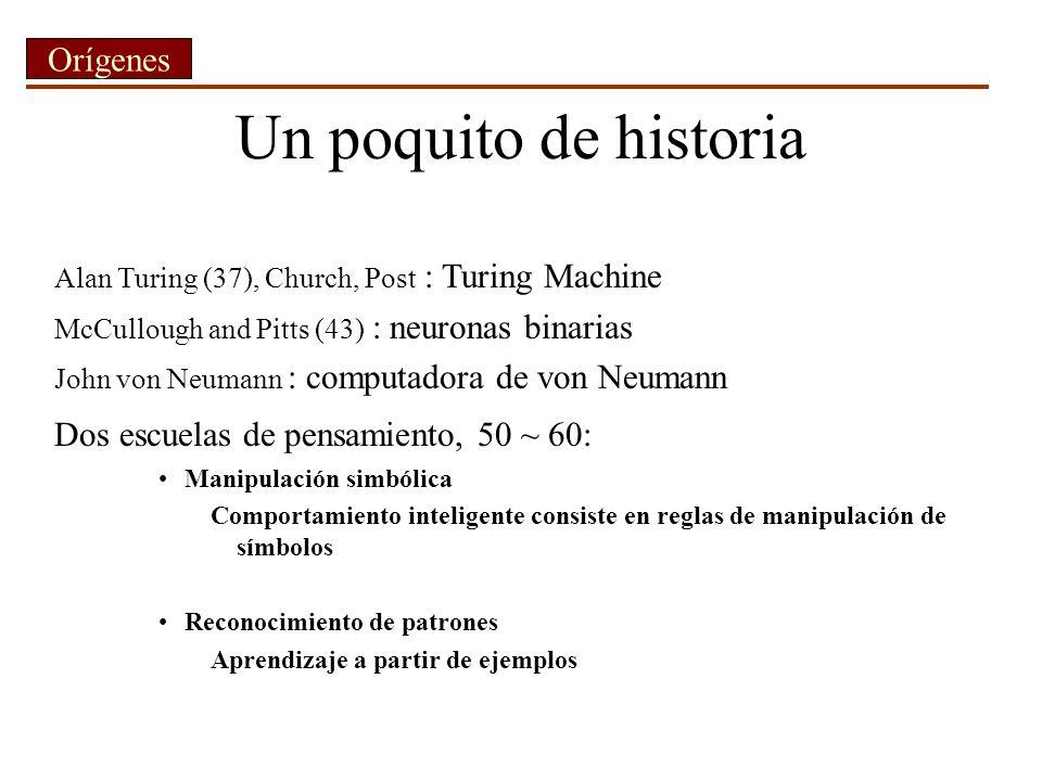 Un poquito de historia Orígenes Dos escuelas de pensamiento, 50 ~ 60: