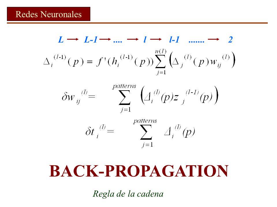 BACK-PROPAGATION Redes Neuronales L L-1 .... l l-1 ....... 2