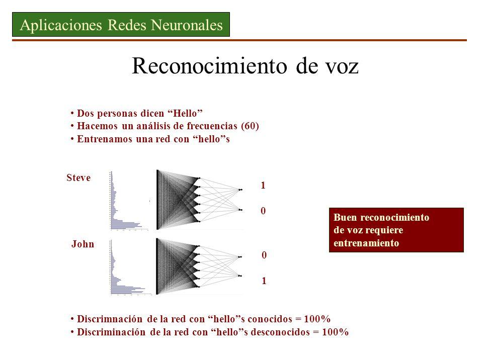 Aplicaciones Redes Neuronales