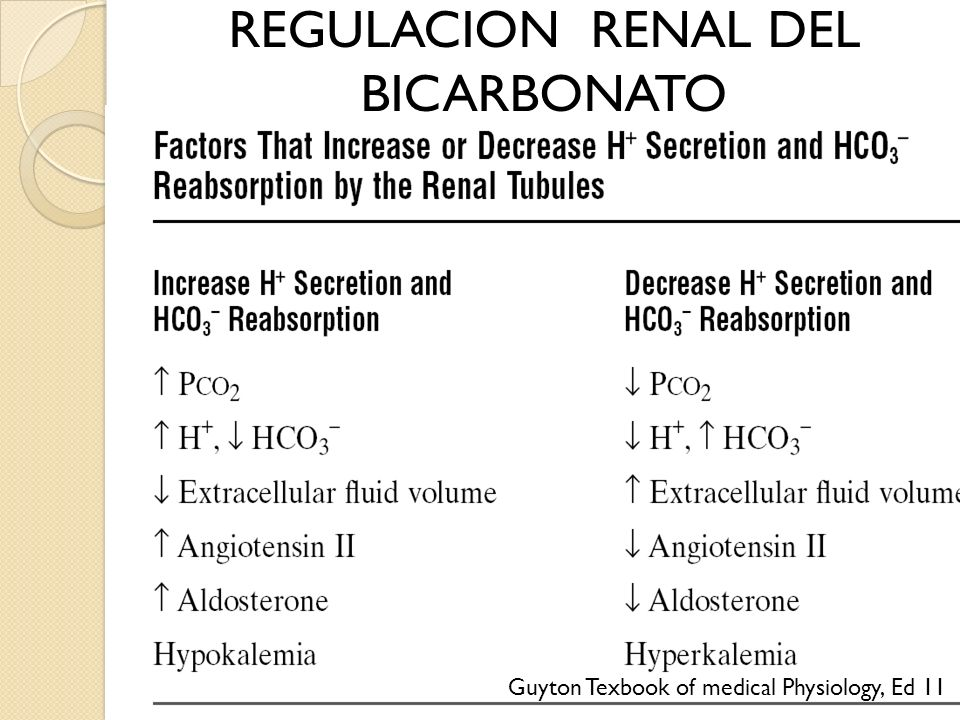 REGULACION RENAL DEL BICARBONATO