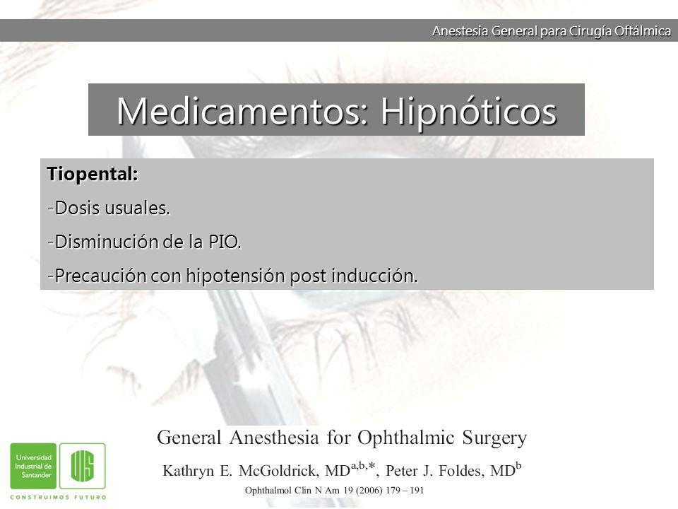 Medicamentos: Hipnóticos