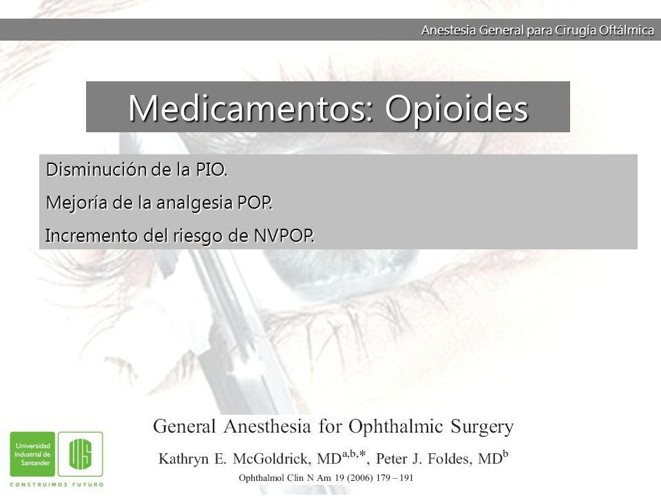 Medicamentos: Opioides