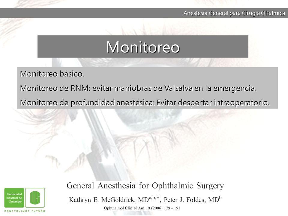Monitoreo Monitoreo básico.