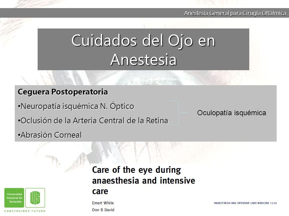 Cuidados del Ojo en Anestesia