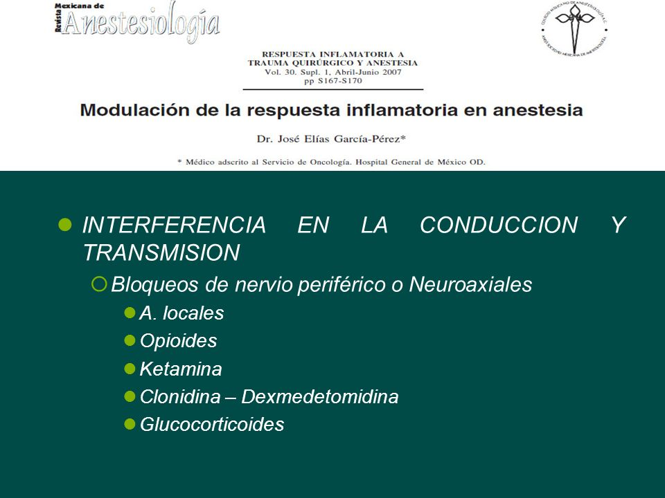 INTERFERENCIA EN LA CONDUCCION Y TRANSMISION