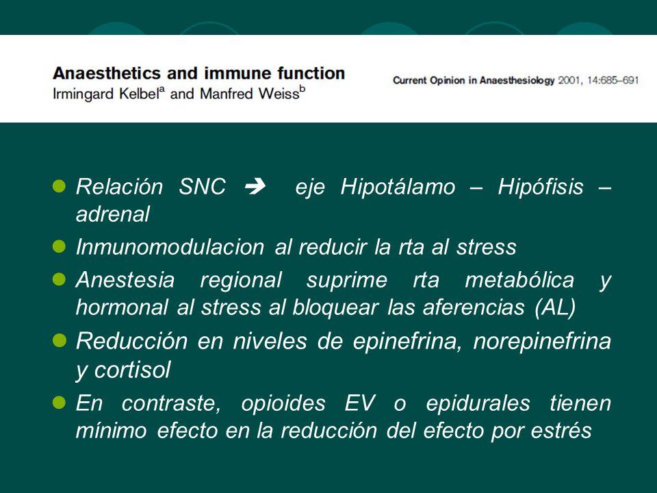 Reducción en niveles de epinefrina, norepinefrina y cortisol