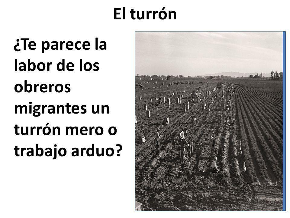 El turrón ¿Te parece la labor de los obreros migrantes un turrón mero o trabajo arduo