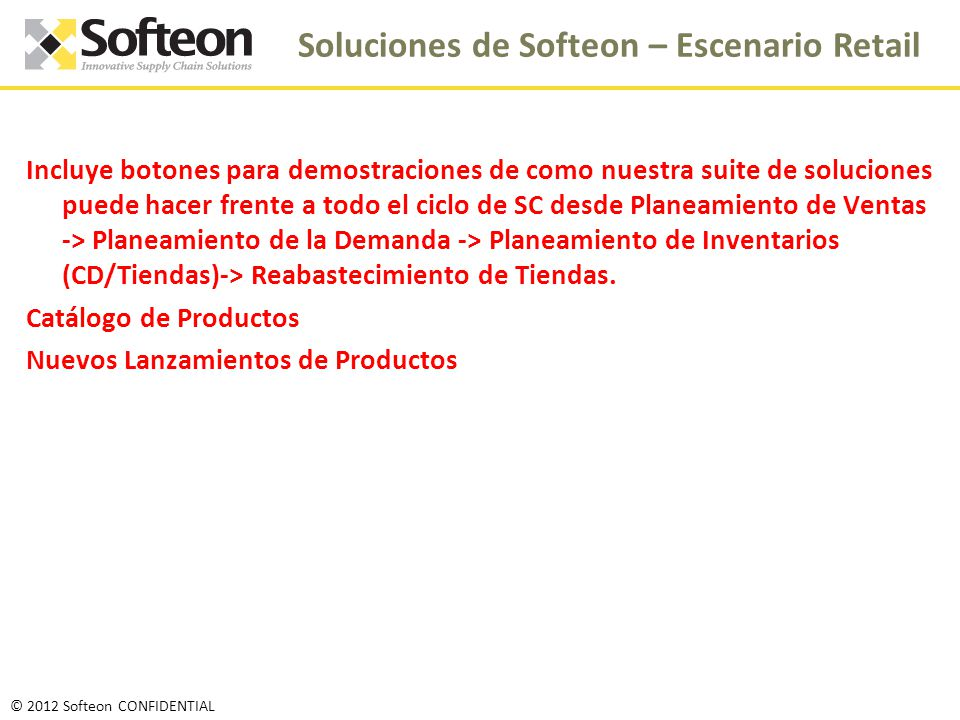 Soluciones de Softeon – Escenario Retail