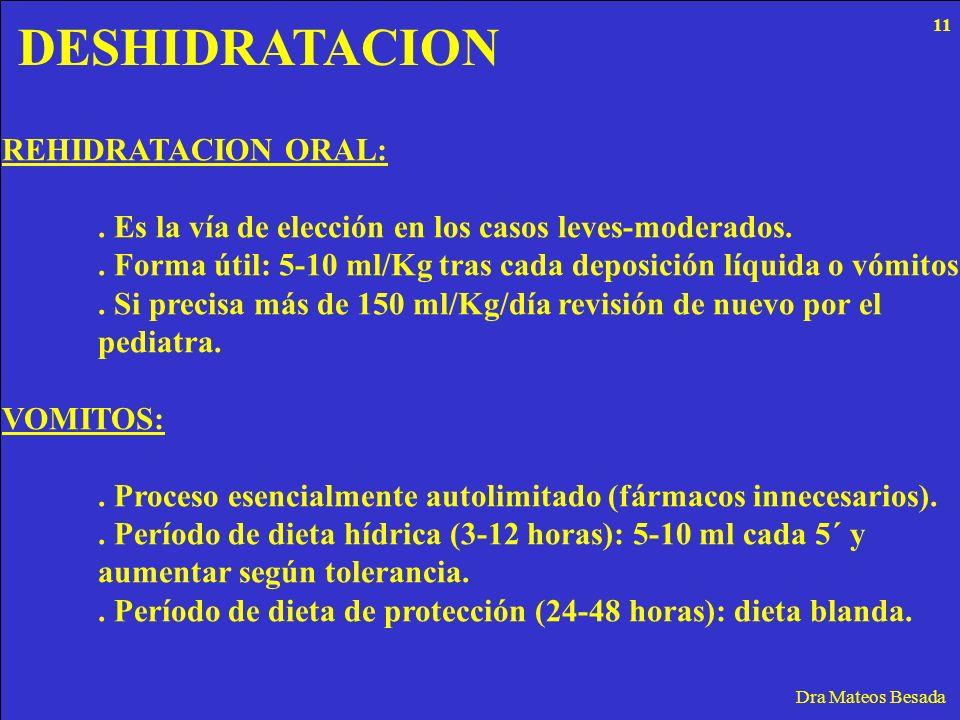 DESHIDRATACION REHIDRATACION ORAL: