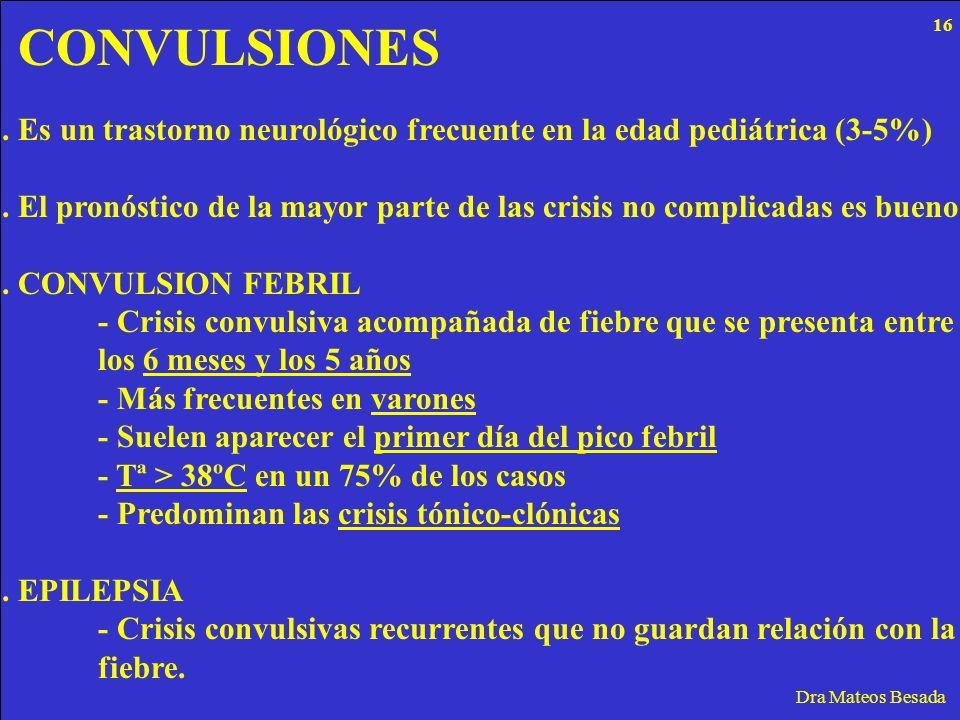 CONVULSIONES 16. . Es un trastorno neurológico frecuente en la edad pediátrica (3-5%)
