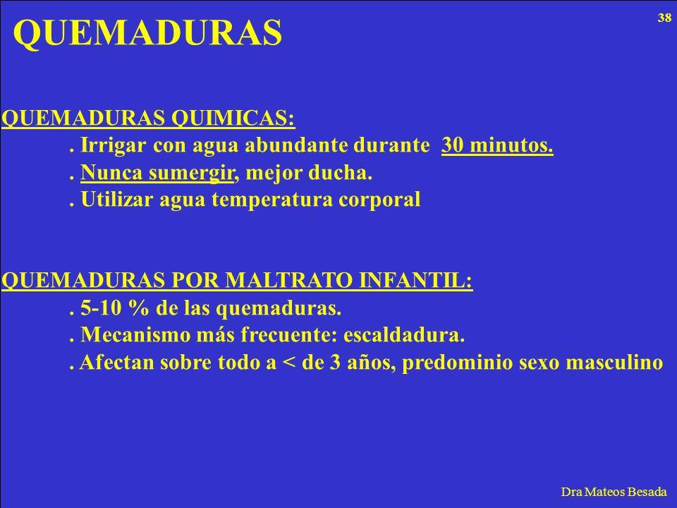 QUEMADURAS QUEMADURAS QUIMICAS: