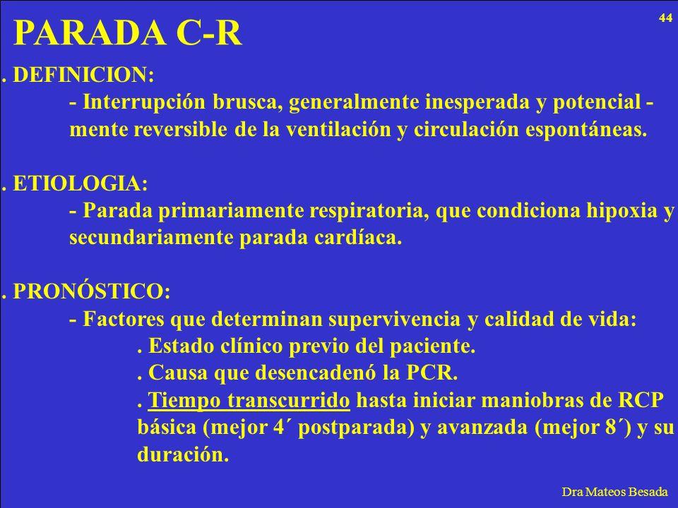 PARADA C-R . DEFINICION: