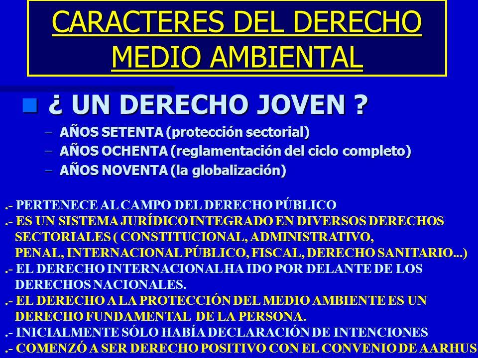 CARACTERES DEL DERECHO MEDIO AMBIENTAL