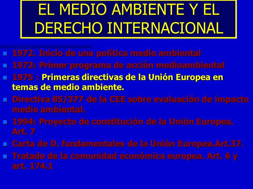 EL MEDIO AMBIENTE Y EL DERECHO INTERNACIONAL