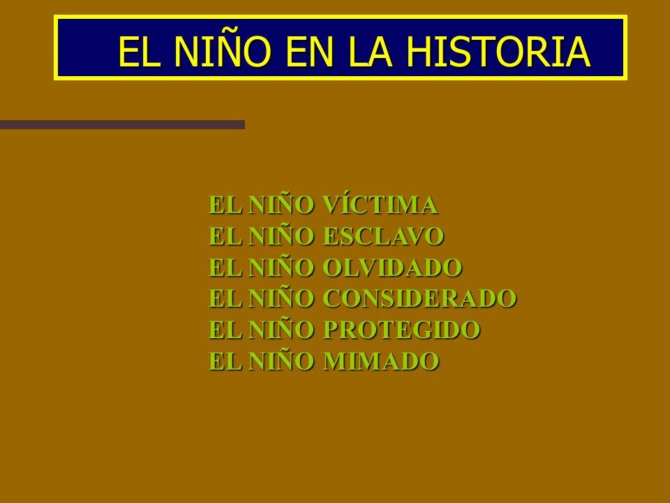 EL NIÑO EN LA HISTORIA EL NIÑO VÍCTIMA EL NIÑO ESCLAVO