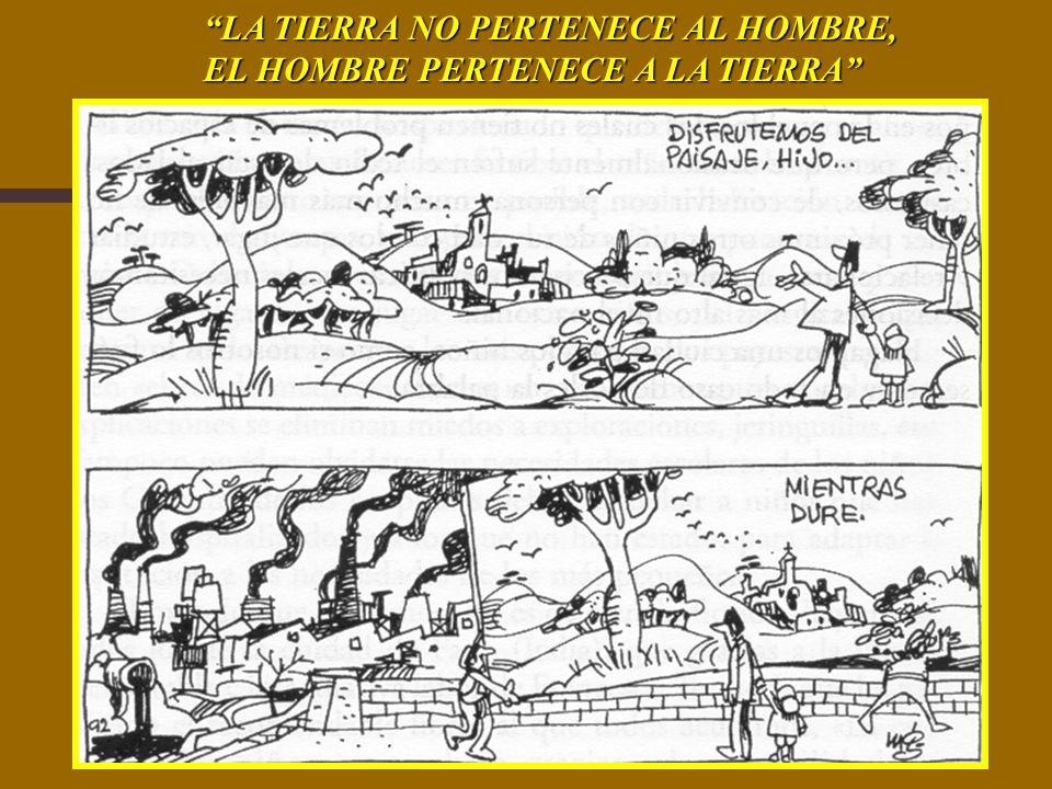 LA TIERRA NO PERTENECE AL HOMBRE,