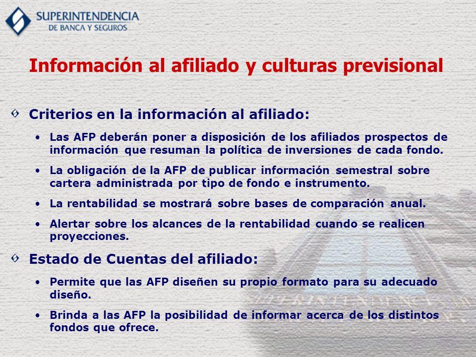 Información al afiliado y culturas previsional
