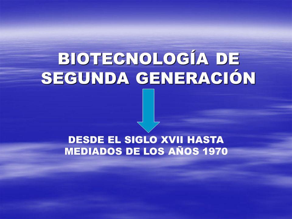 BIOTECNOLOGÍA DE SEGUNDA GENERACIÓN
