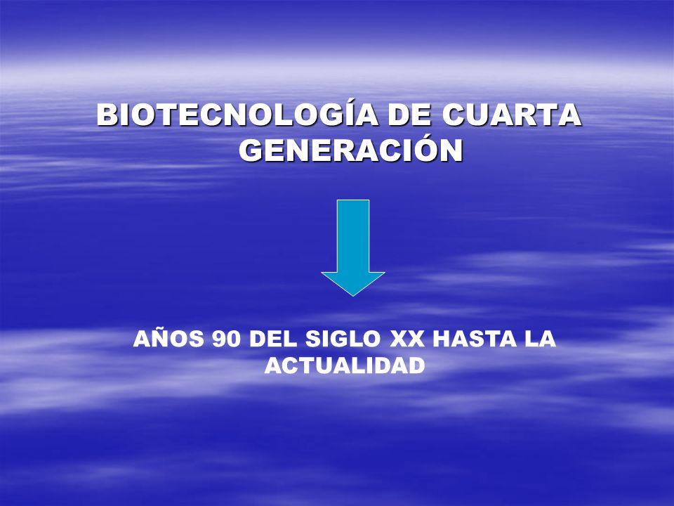BIOTECNOLOGÍA DE CUARTA GENERACIÓN